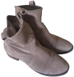 BCBGeneration Suede Gray Textured Taupe Boots