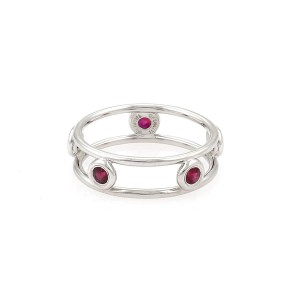 Tiffany & Co. Peretti By The Yard Rubies Platinum Open Band Ring