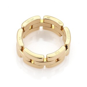 Cartier Maillon Panthere 18k Yellow Gold 8mm Wide Band Ring Size 55-US 6.75 Ce