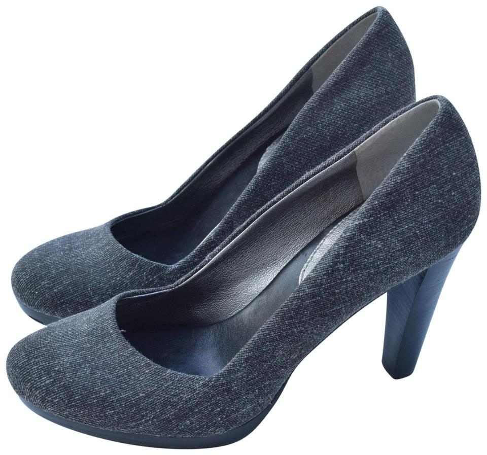 Banana Gray Republic Gray Banana Tweed & Leather Pumps 7f0ef1