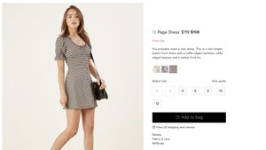 Reformation short dress black and white Vintage Scoop Neck on Tradesy