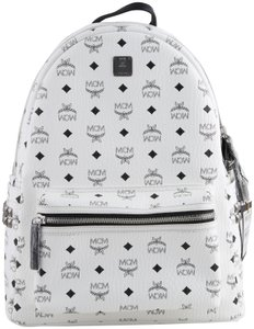 MCM Monogram Faux Leather Backpack