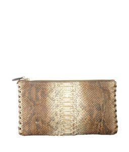 Prada Leather Wristlet in Brown