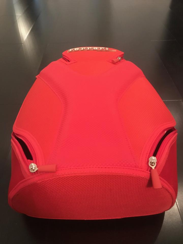 Ferrari Red Canvas Backpack - Tradesy 9058229892daf