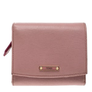 Fendi Pink Leather Small Crayons Wallet