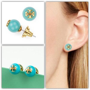 Tory Burch Tory Burch Crystal Pearl Stud Earrings TURQUOISE