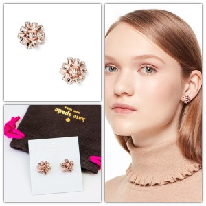 Kate Spade Kate Spade Bourgeois Bow Pave Earrings Rose Gold