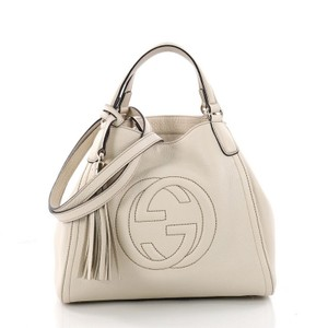 888f25d2e0e9 Gucci Soho Shoulder Bag - item med img. Gucci. Soho Convertible Small  Off-white Leather ...
