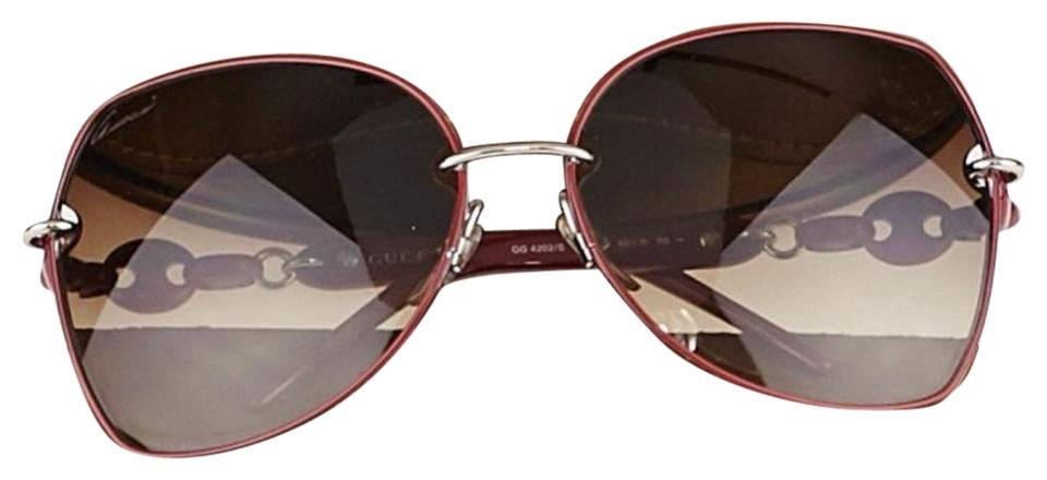 76147d82b55 Gucci GUCCI aaa Red Metal Frame Chain-Link Gradient Image 0 ...