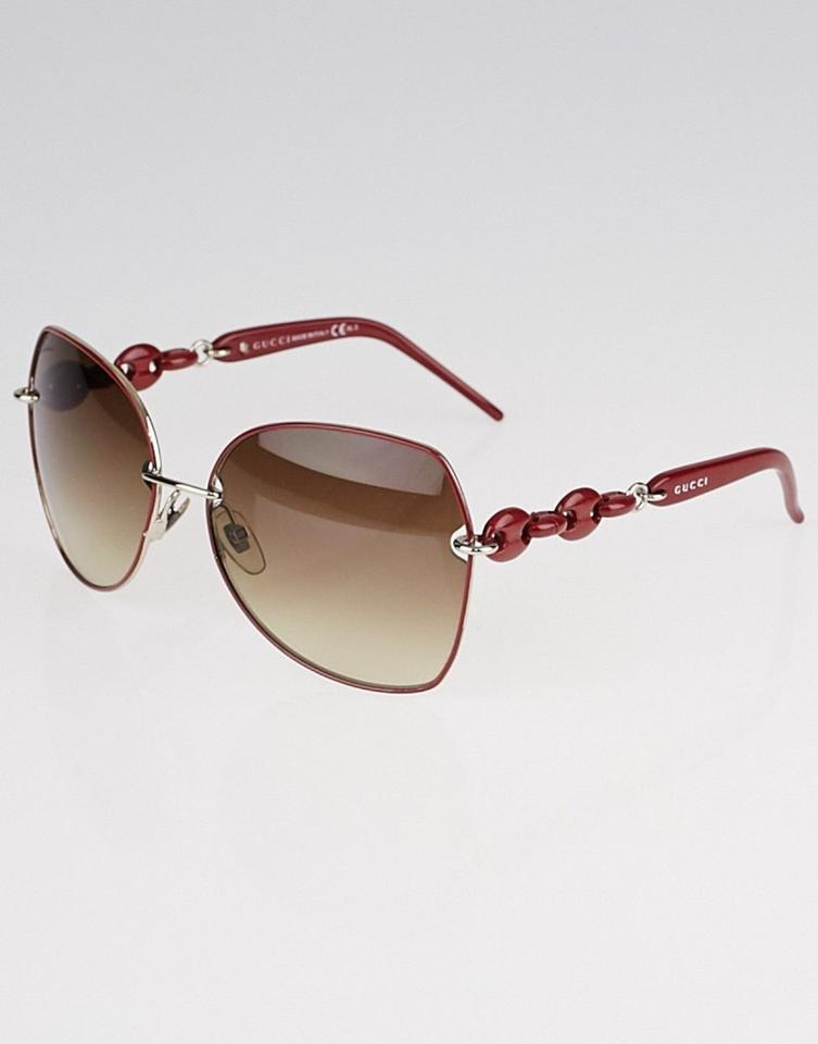 de20c0a7729 Gucci GUCCI aaa Red Metal Frame Chain-Link Gradient Image 3. 1234