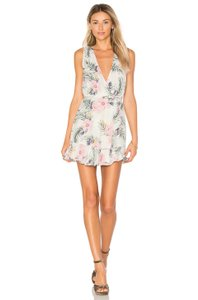 Privacy Please short dress Multi Wrap Ruffles Floral Sleeveless Vacation on Tradesy