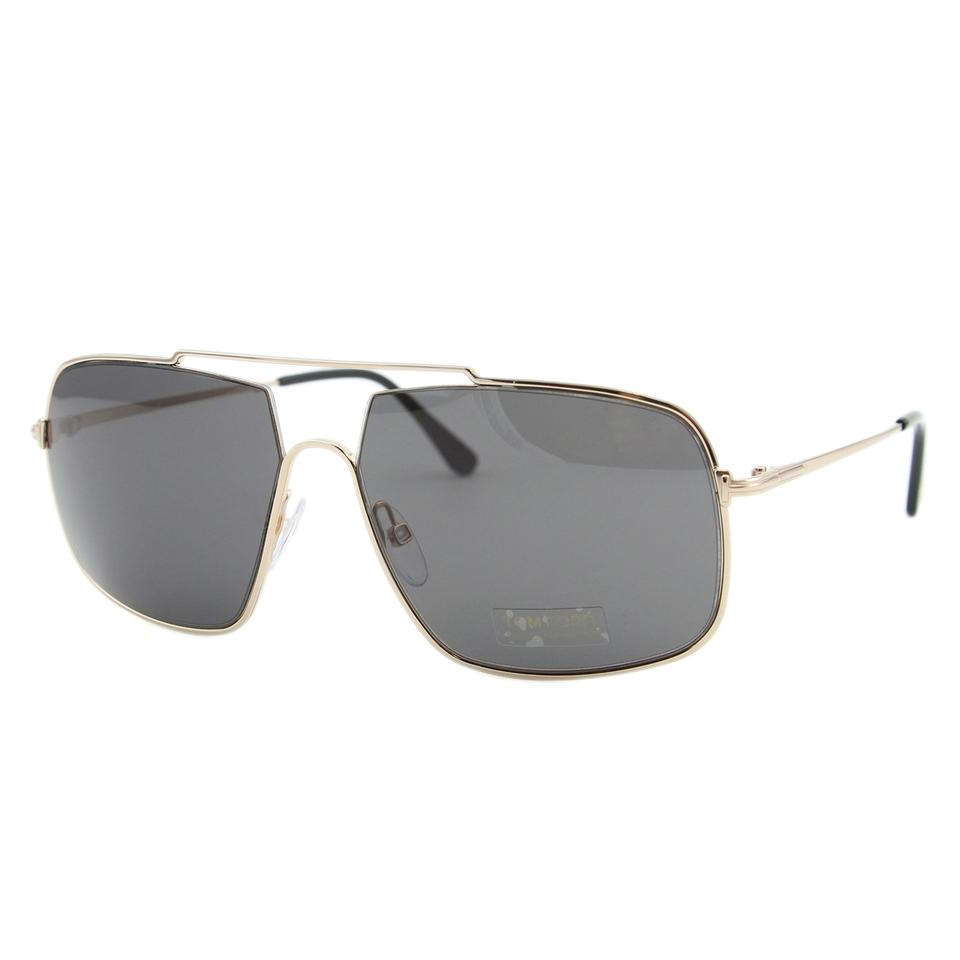 14ba80a44b Tom Ford Gold   Brown New 2018 Men Aiden-02 Tf0585 Metal Square ...