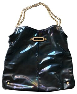 Jimmy Choo Tote in Black Iridescent with hints of purple and blue