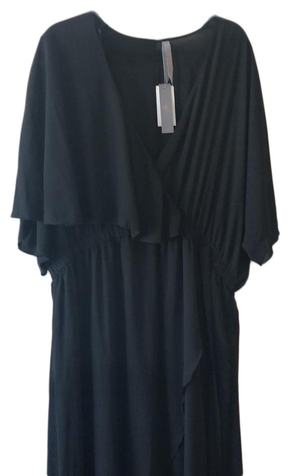 cd5ce16fce0 Melissa McCarthy Seven7 Black M7w6209 Long Casual Maxi Dress Size 22 ...