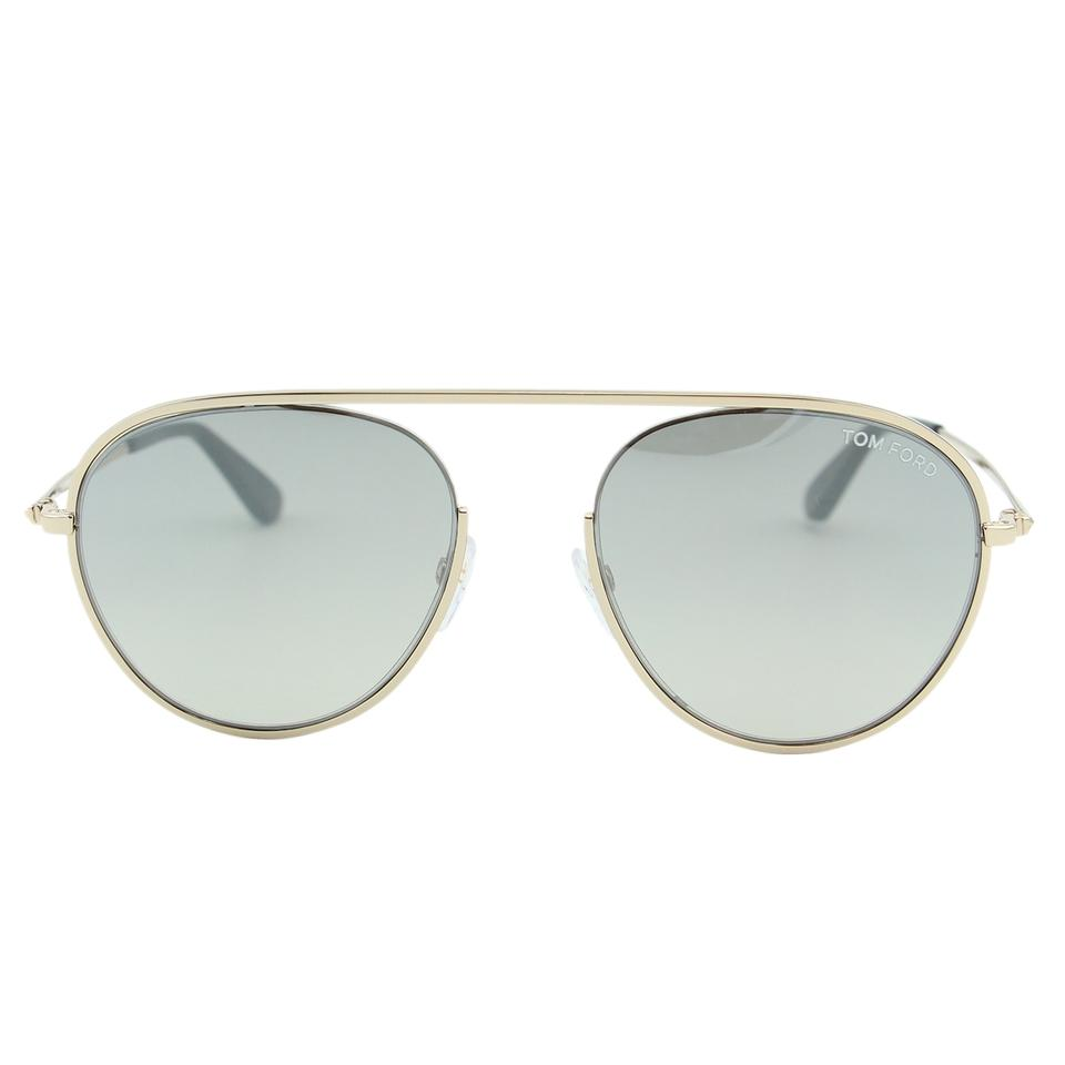 f11701acb20f Tom Ford Gray   Gold New Tf Keith-02 Tf-599 Men Rounded Aviator Cut ...