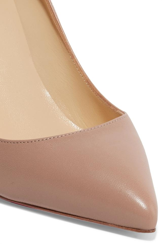 f2c9aa9c8820 Christian Louboutin Pigalle Follies Leather Pigalle nude Pumps Image 3. 1234