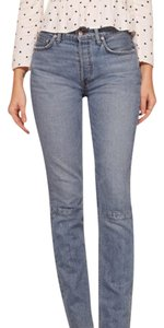 Reformation Straight Leg Jeans-Light Wash