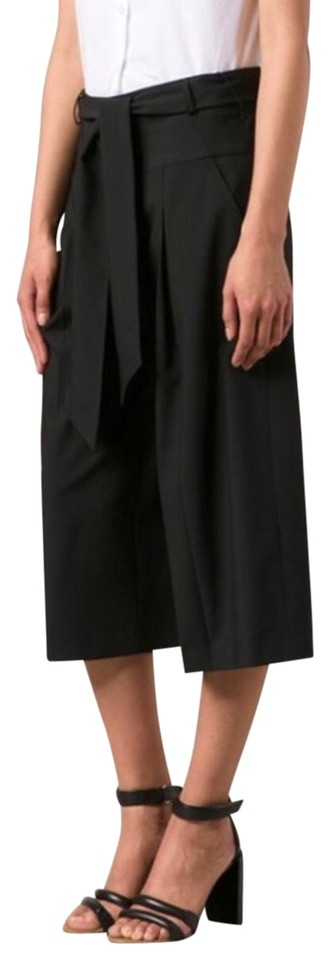 45eff781883845 Black High Rise Cropped Culottes Pants. VERONICA BEARD. Black High Rise  Cropped Culottes Pants