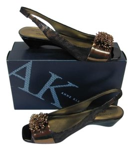 AK Anne Klein New Size 9.50m BRONZE, BROWN Wedges