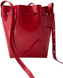 Mansur Gavriel Leather Patent Leather Luxury Italian Classic Cross Body Bag