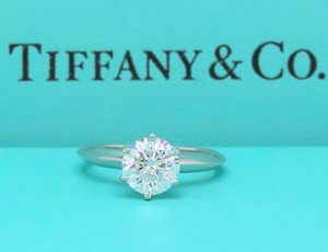 e1824b62f Tiffany & Co. I Box Diamond Round 1.04 Cts Vs2 Platinum Papers Engagement  Ring