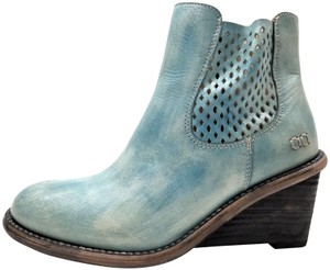 Bed|Stü Lightly Distressed Side Zip Made In Mexico BLUE DRIFTWOOD Boots
