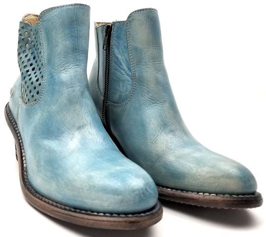 Bed|Stü Lightly Distressed Side Zip Made In Mexico BLUE DRIFTWOOD Boots Image 1