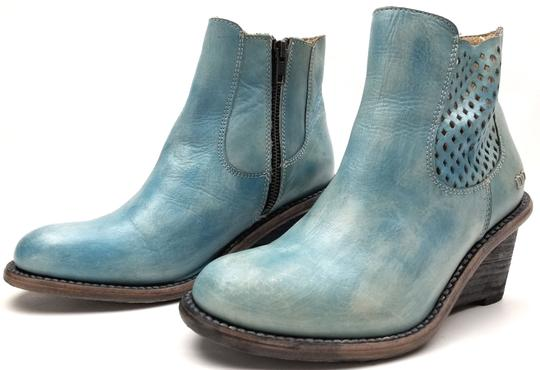 Bed|Stü Lightly Distressed Side Zip Made In Mexico BLUE DRIFTWOOD Boots Image 2