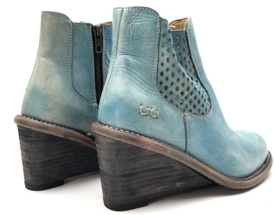 Bed|Stü Lightly Distressed Side Zip Made In Mexico BLUE DRIFTWOOD Boots Image 3