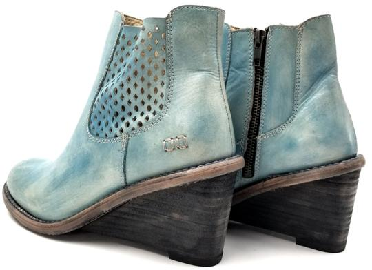 Bed|Stü Lightly Distressed Side Zip Made In Mexico BLUE DRIFTWOOD Boots Image 4