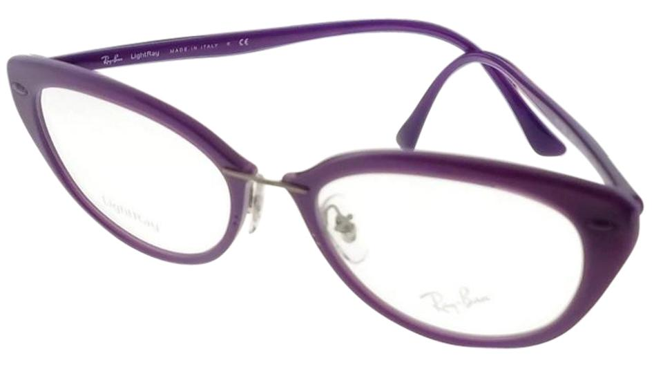fbee4992509 Ray-Ban RX7088-5617-52 Light Ray Women s Violet Frame Clear Lens Eyeglasses  ...