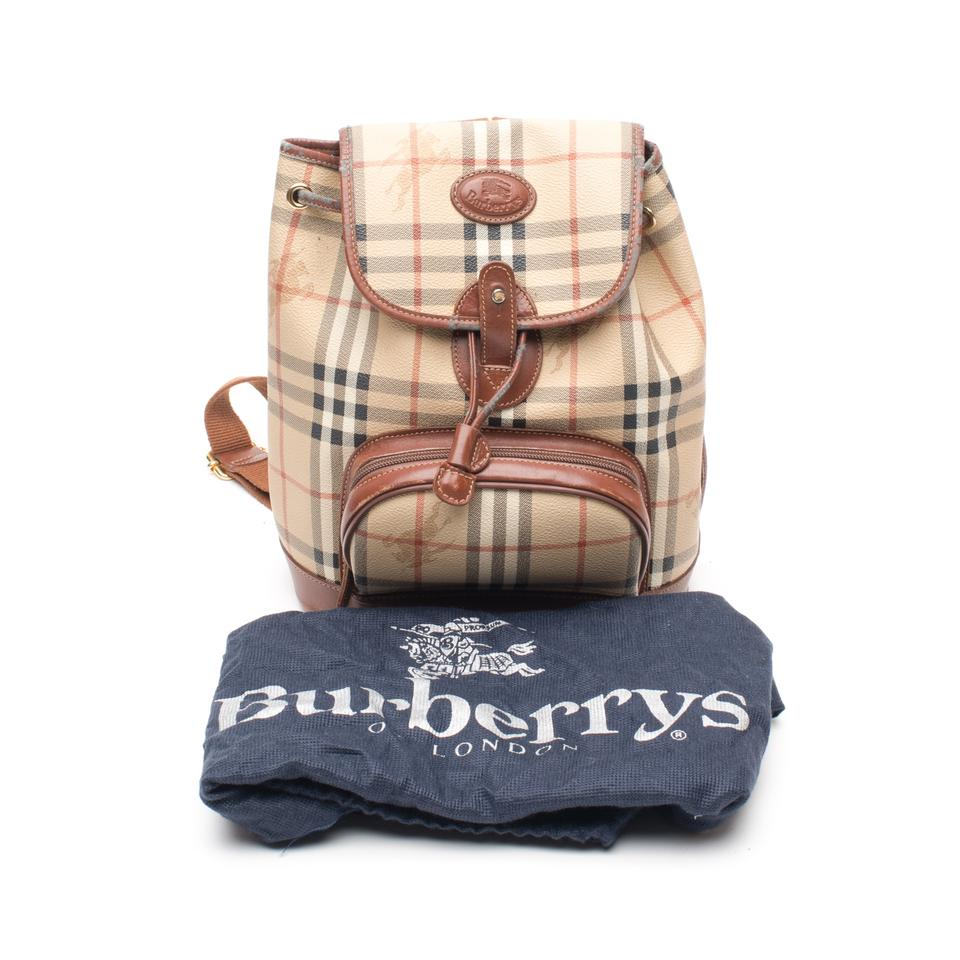 2edf72bc76f8 Burberry Haymarket Check Beige Coated Canvas Backpack - Tradesy