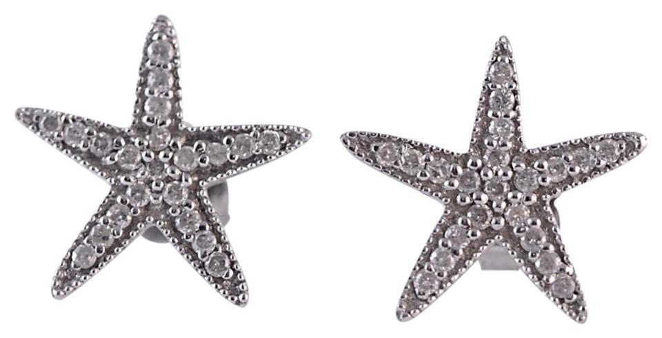 Unbranded 14k White Gold Starfish Stud Earrings 40 Carats Image 0