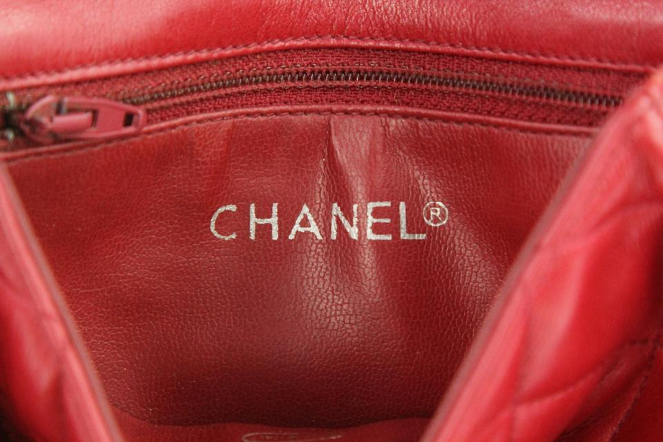 5efa02800e4aa8 Chanel Envelope Flap Leather Waist Red Clutch Image 11. 123456789101112