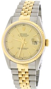 Rolex Rolex Datejust 16233 Stainless Steel 18k Gold Jubilee Automatic