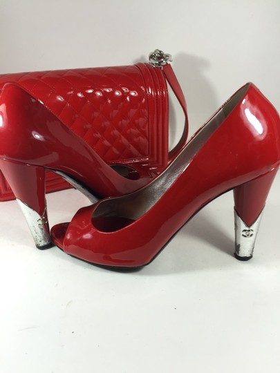 Chanel Red Pumps