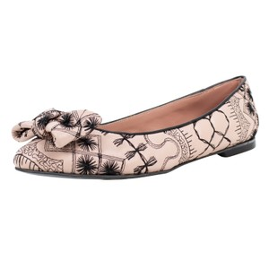 RED Valentino Stitched Bow Beige Flats