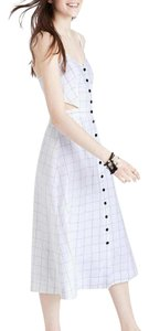 White with Black detail Maxi Dress by Madewell Mid Length Cut Out Summer And