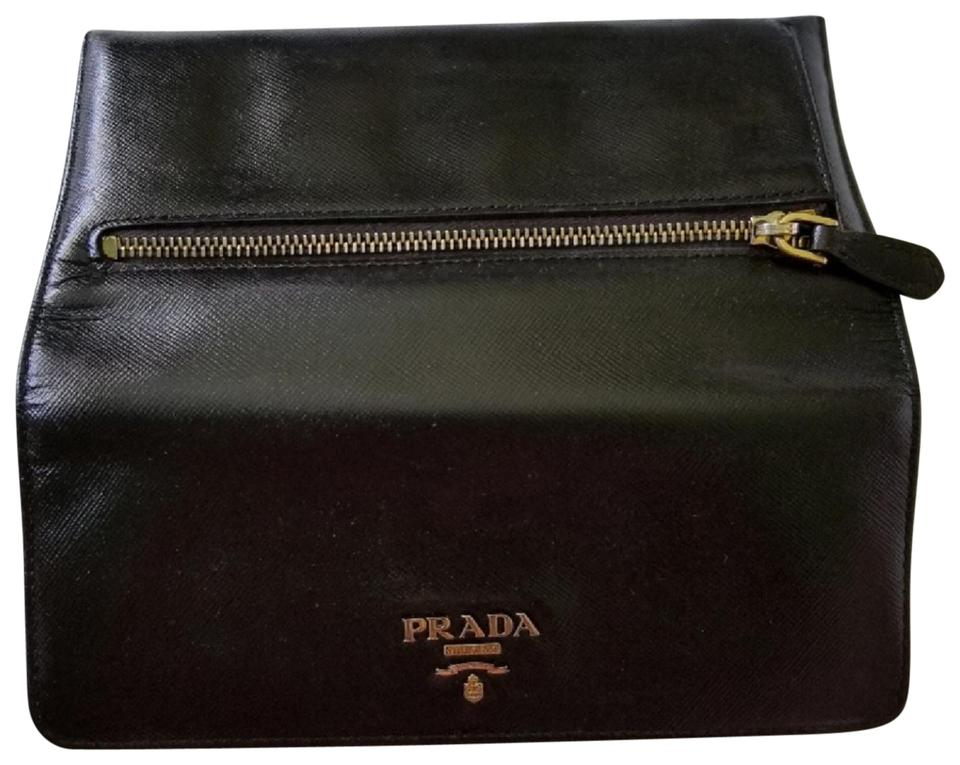12b42b5753fcd6 Prada Auth Saffiano Long Leather flap Wallet Image 0 ...