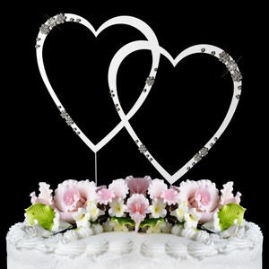 Elegance by Carbonneau Silver Plated Swarovski Crystal Cake Topper