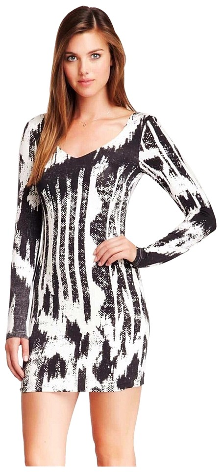 36b7d657c7c5 Evil Twin Black White By Hunt No More Tribal Bodycon Short Cocktail ...