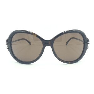 6ca4b9d838a2 Chanel Oval Tortoise Brown Bow Sunglasses 5178 714/3G