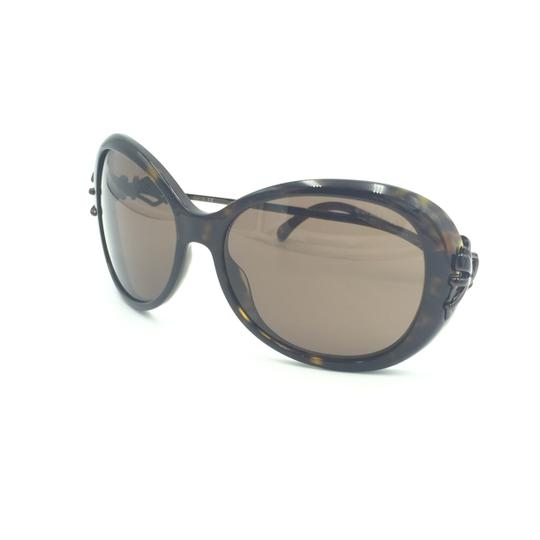 Chanel Oval Tortoise Brown Bow Sunglasses 5178 714/3G Image 7