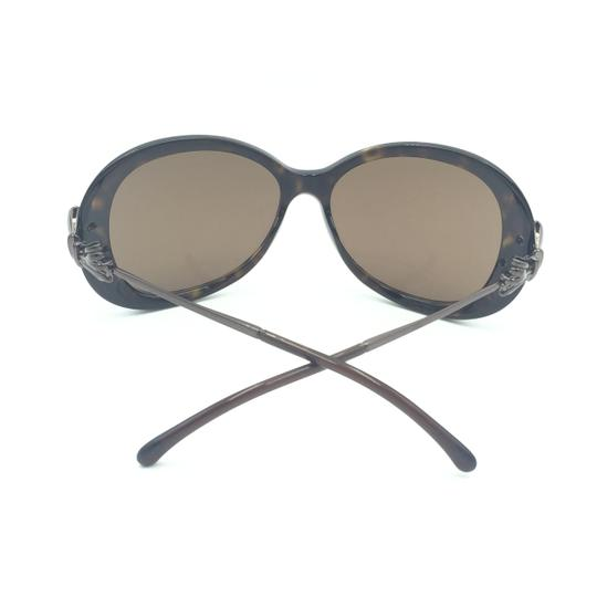 Chanel Oval Tortoise Brown Bow Sunglasses 5178 714/3G Image 9