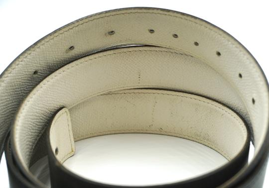 Hermès 32Mm Rare Boxed Gold Chaine D'ancre Reversible Belt leather Size 105 Image 8