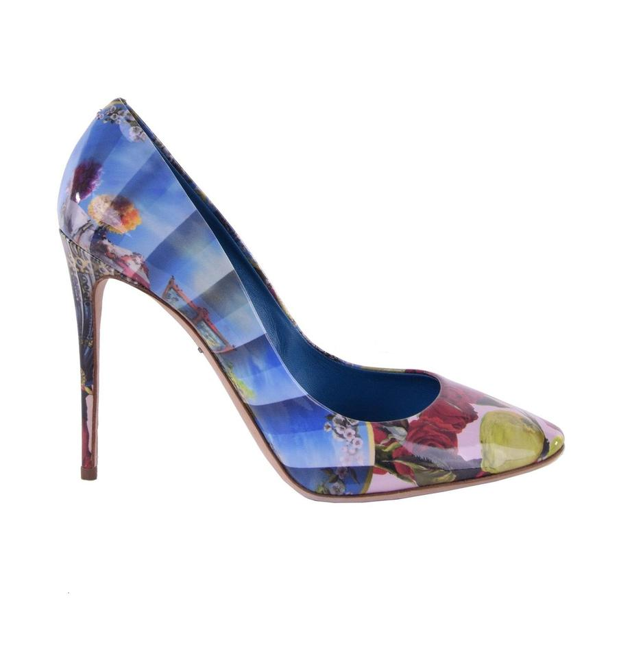 Dolce&Gabbana Dolce & Gabbana Patent Leather Heels Heels Leather Caballe W. Sicily Motive Bl Pumps b213c7