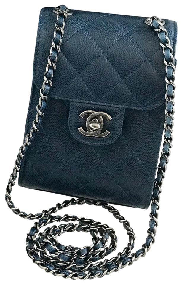 205b41aa8675 Chanel Leather Chain Front Flap Mini Ultra Mini Cross Body Bag Image 0 ...