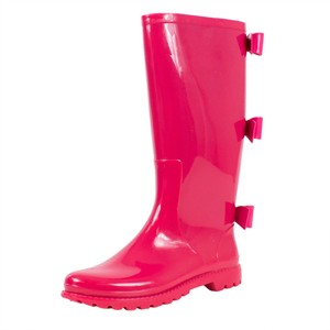 RED Valentino Winter Rain Rubber Bows Pink Boots