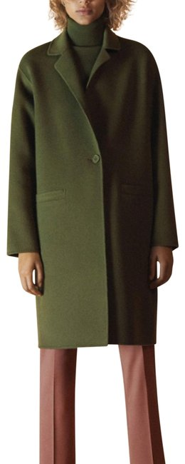 Item - Olive Green Wool Cashmere Clairene Like Long Top Divide Coat Size 4 (S)