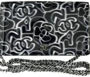 Chanel Patent Leather Front Flap Chain Cross Body Bag